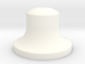 """1"""" Scale Bell in White Processed Versatile Plastic"""