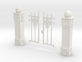 Iron Fence Gate in White Natural Versatile Plastic