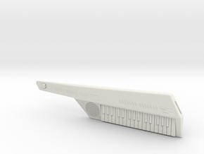 Miniature Keytar in White Natural Versatile Plastic