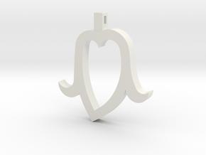 Heart Head mini in White Natural Versatile Plastic