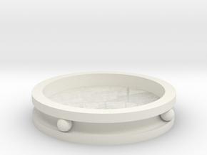 ring rhino in White Natural Versatile Plastic