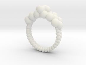 Neocube flower ring 16 in White Natural Versatile Plastic