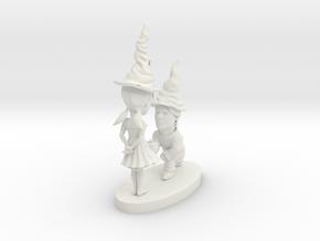 gnome couple in White Natural Versatile Plastic