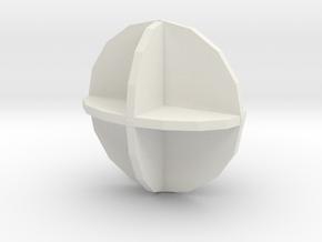 UniNeg in White Natural Versatile Plastic