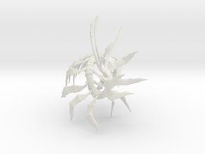 "Leviathan Centipede - 4.5"" in White Natural Versatile Plastic"
