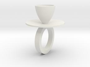 Ring Hanke_Stainless steal in White Natural Versatile Plastic