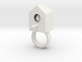 vincent birdhouse white strong in White Natural Versatile Plastic