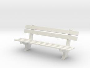 straatbank_5plank in White Natural Versatile Plastic