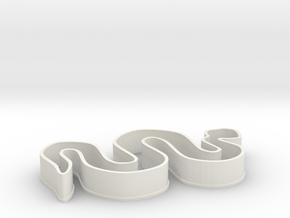 Snake Cookie Cutter in White Natural Versatile Plastic