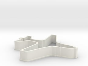 EA6B Aircraft Cookie Cutter in White Natural Versatile Plastic