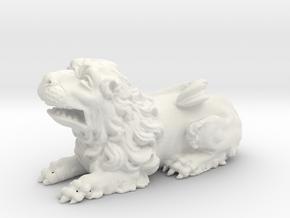 Lion V01 in White Natural Versatile Plastic