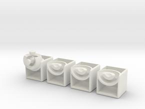 Minimis 2x2x1 (hollow) in White Natural Versatile Plastic