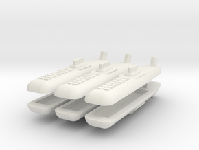Typhoon Class SSBN 1:4800 x6 in White Natural Versatile Plastic