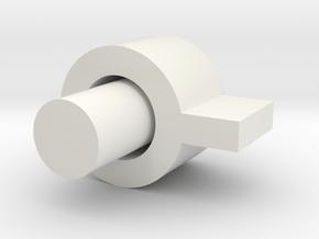 Button in White Natural Versatile Plastic