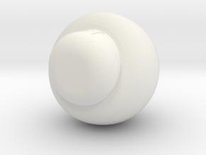 1 Up mushroom in White Natural Versatile Plastic
