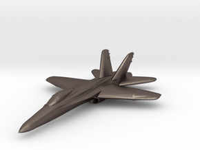 F18e Jet Aircraft  - Monopoly Metal Model in Polished Bronzed Silver Steel