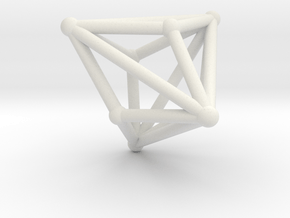 Triakistetrahedron in White Natural Versatile Plastic