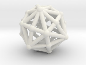 Dysdiakisdodecahedron in White Natural Versatile Plastic