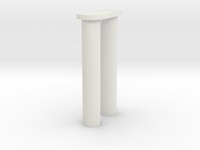 pin in White Natural Versatile Plastic