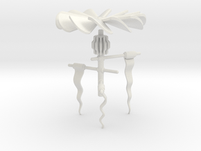 Helical Prop in White Natural Versatile Plastic