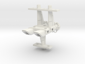 Mulcien Horarum Class Battlecruiser in White Natural Versatile Plastic