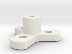 Wheel Mount in White Natural Versatile Plastic
