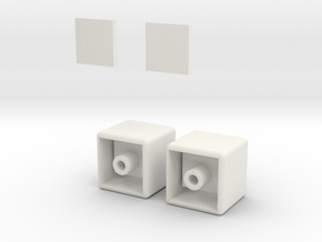 1x1x2 Rubiks Cube in White Natural Versatile Plastic