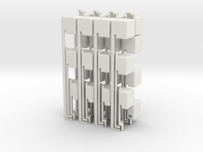 2x2x14 in White Natural Versatile Plastic