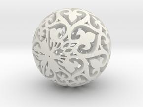 Moroccan Ball 7.3 in White Natural Versatile Plastic