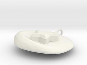 Star Emblem DogTag / Charm in White Natural Versatile Plastic