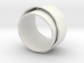 Dubbele ring in White Natural Versatile Plastic