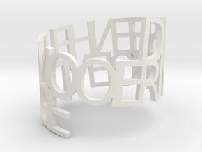 Ring Poem mooie dingietje in White Natural Versatile Plastic