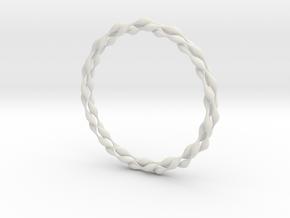 Ripples Bangle in White Natural Versatile Plastic