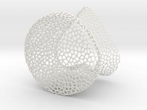 Heart Glass 3 in White Natural Versatile Plastic