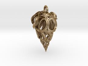 Vortex Drop Pendant in Polished Gold Steel