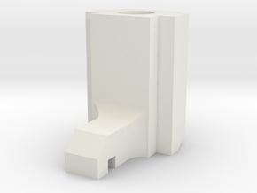 Spektrum DX6i replacement throttle spring hook in White Natural Versatile Plastic
