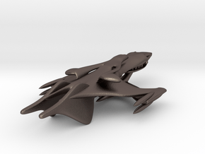 Classic Whitestar from Babylon 5 in Polished Bronzed Silver Steel