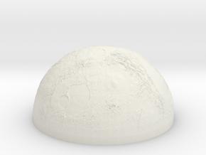Planet (half sphere) in White Natural Versatile Plastic