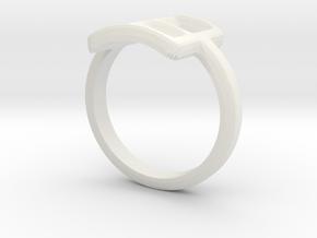 Neda''s Ring in White Natural Versatile Plastic