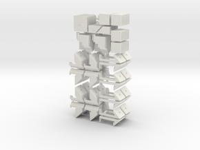 Mini crazy quartet in White Natural Versatile Plastic