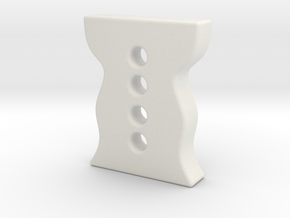 designer button 2 in White Natural Versatile Plastic