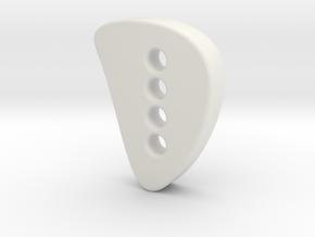 Designer button 3 in White Natural Versatile Plastic