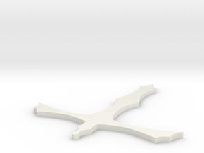 Pugnale no ali in White Natural Versatile Plastic