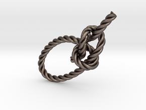 Bowline 3in in Polished Bronzed Silver Steel