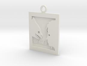 Sintel Keyring in White Natural Versatile Plastic