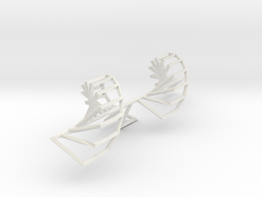 Onion Stairs in White Natural Versatile Plastic