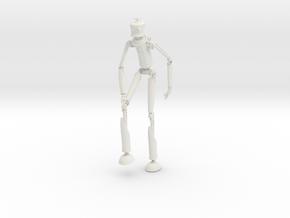 Robotman 15cm in White Natural Versatile Plastic