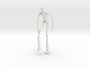 Robotman 20cm in White Natural Versatile Plastic