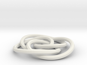 small cycloidal knot in White Natural Versatile Plastic