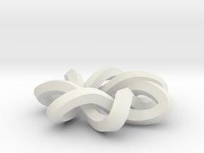 sm 7-1 mobius 360 degree twist in White Natural Versatile Plastic